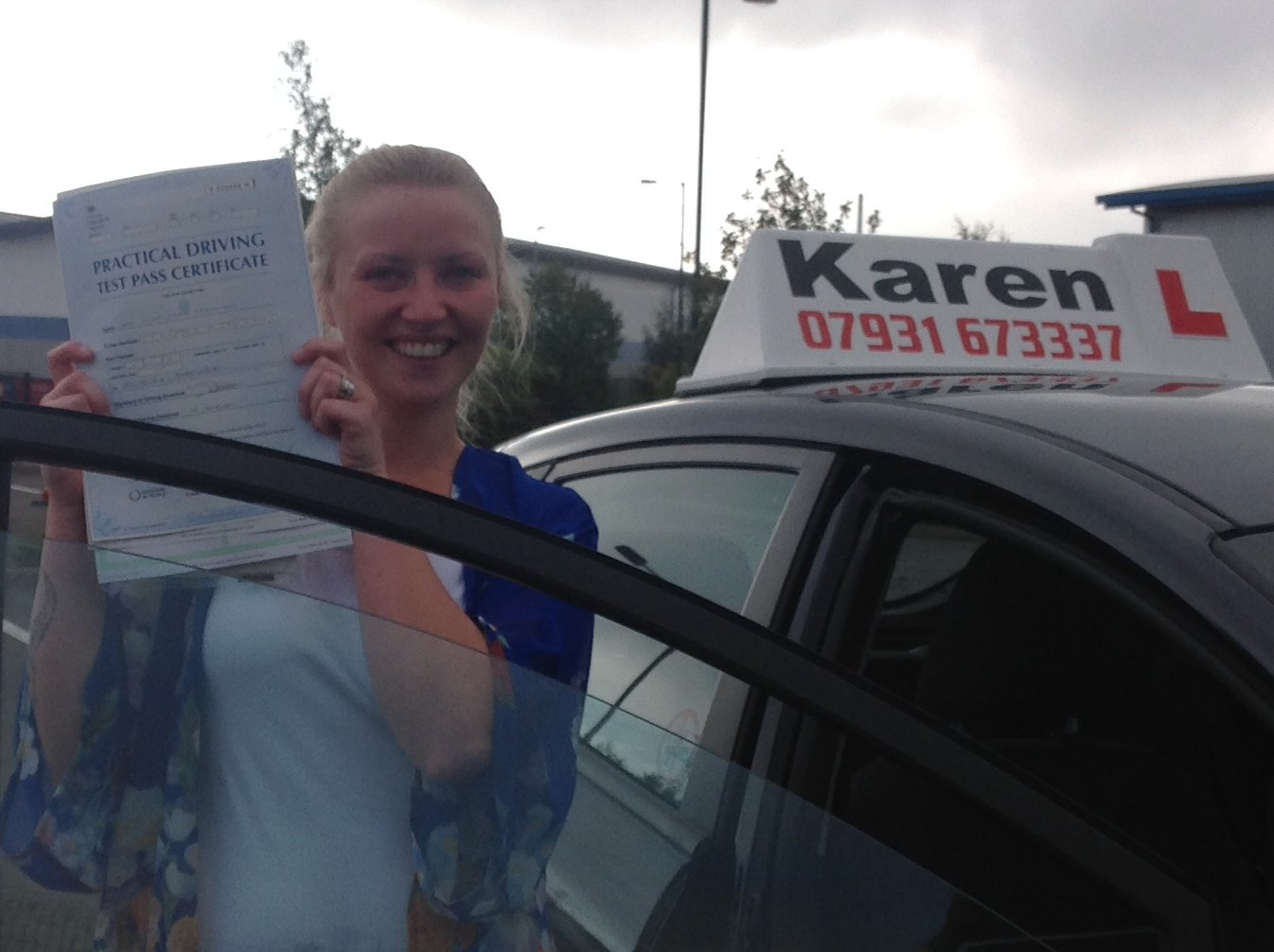 Passed 27th August Lacey Crawhshaw