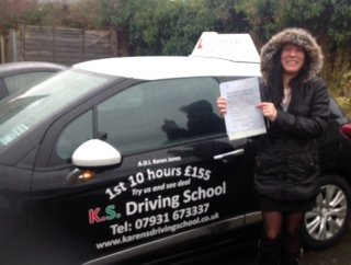 Congratulations to Anna Knapik Passing her Practical Driving