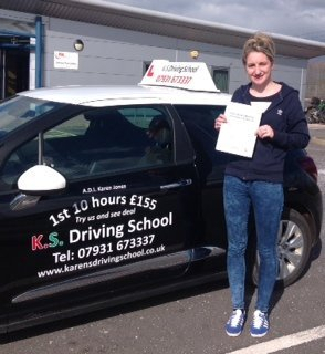 Tamzin Simcox Passed Driving Test 1st Time in Shrewsbury