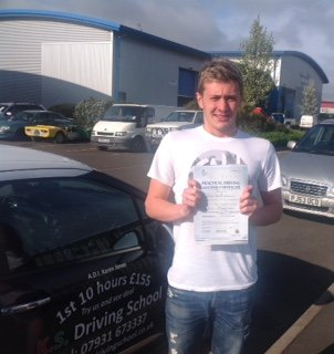 Will Slawson Passed his Driving Test in Shrewsbury 15th April