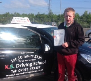 Congratulations to Nathon Jones on Passing his Driving Test 1st