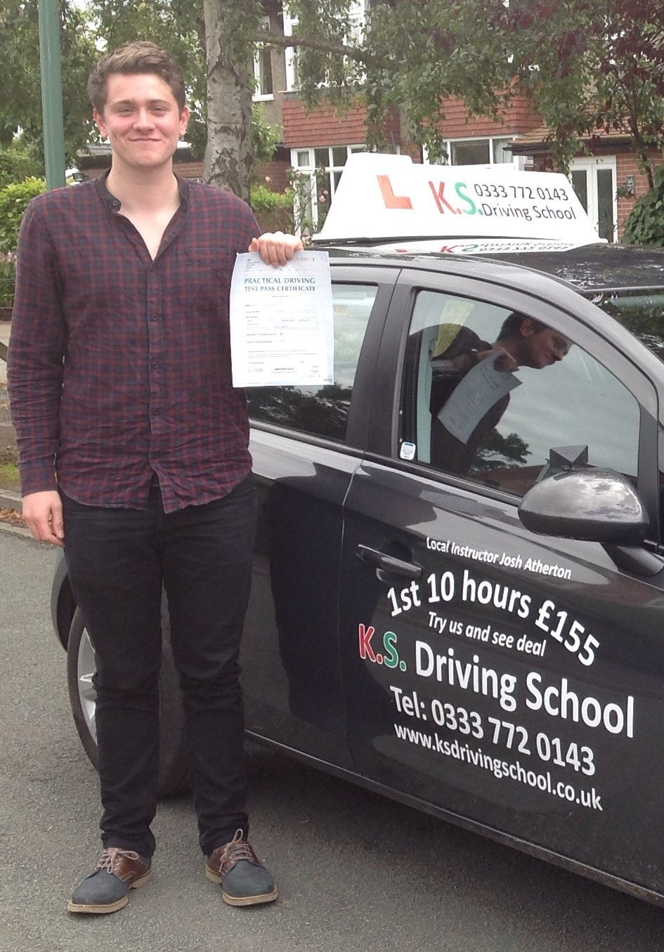 Congratulations to David Snowdon who Passed his Practical Driving Test