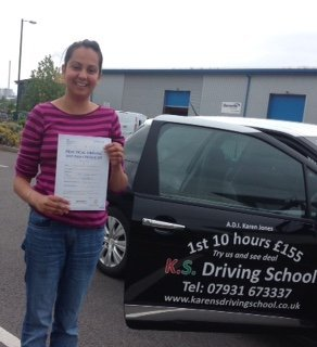 Congratulations to Nicky Marshall who passed her driving test