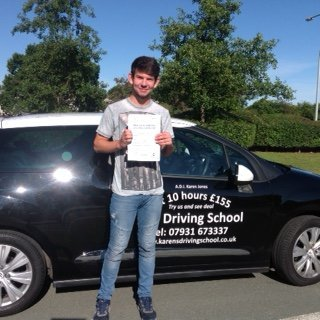 Congratulations to Connor Simpson from Telford for Passing his Driving