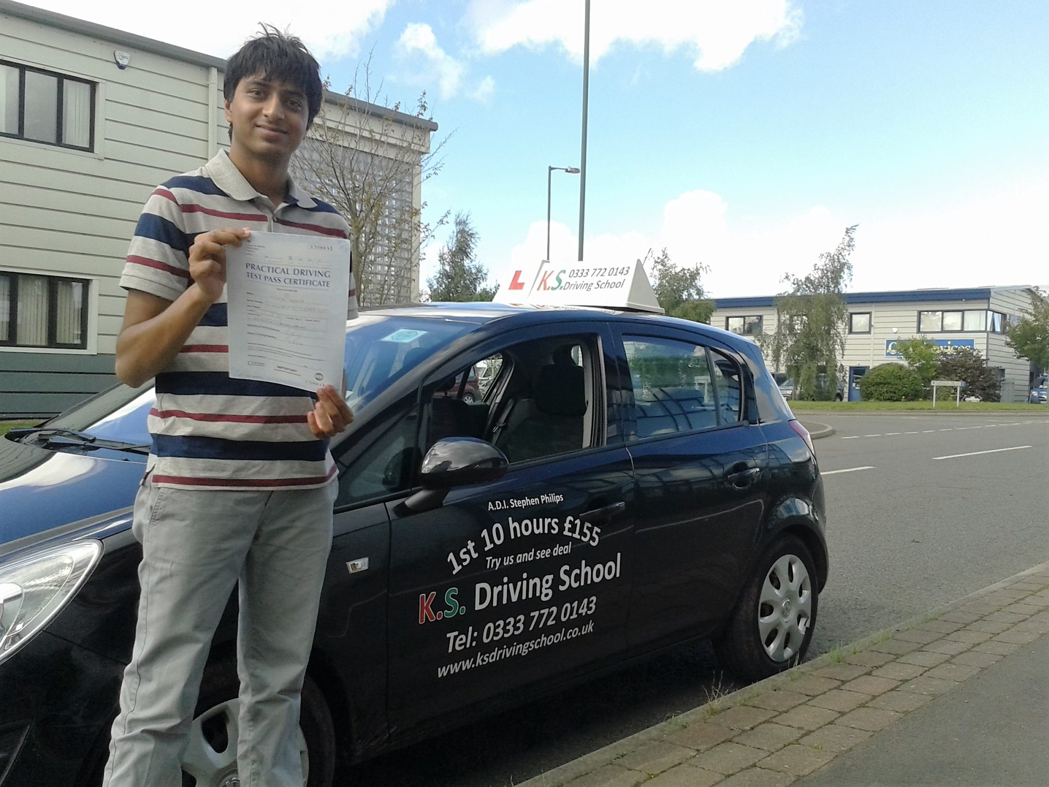 Driving Lessons Shrewsbury Akash Sinha Passed his driving Test 27th