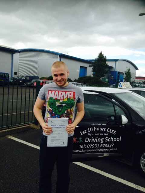 Joe Astley Passed his Driving Test in Shrewsbury August 26th