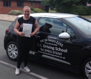 Lauren Fidler Passed Driving Test 1st time in Telford
