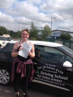 Honer Townsend Passed 1st Time in Shrewsbury 7th September