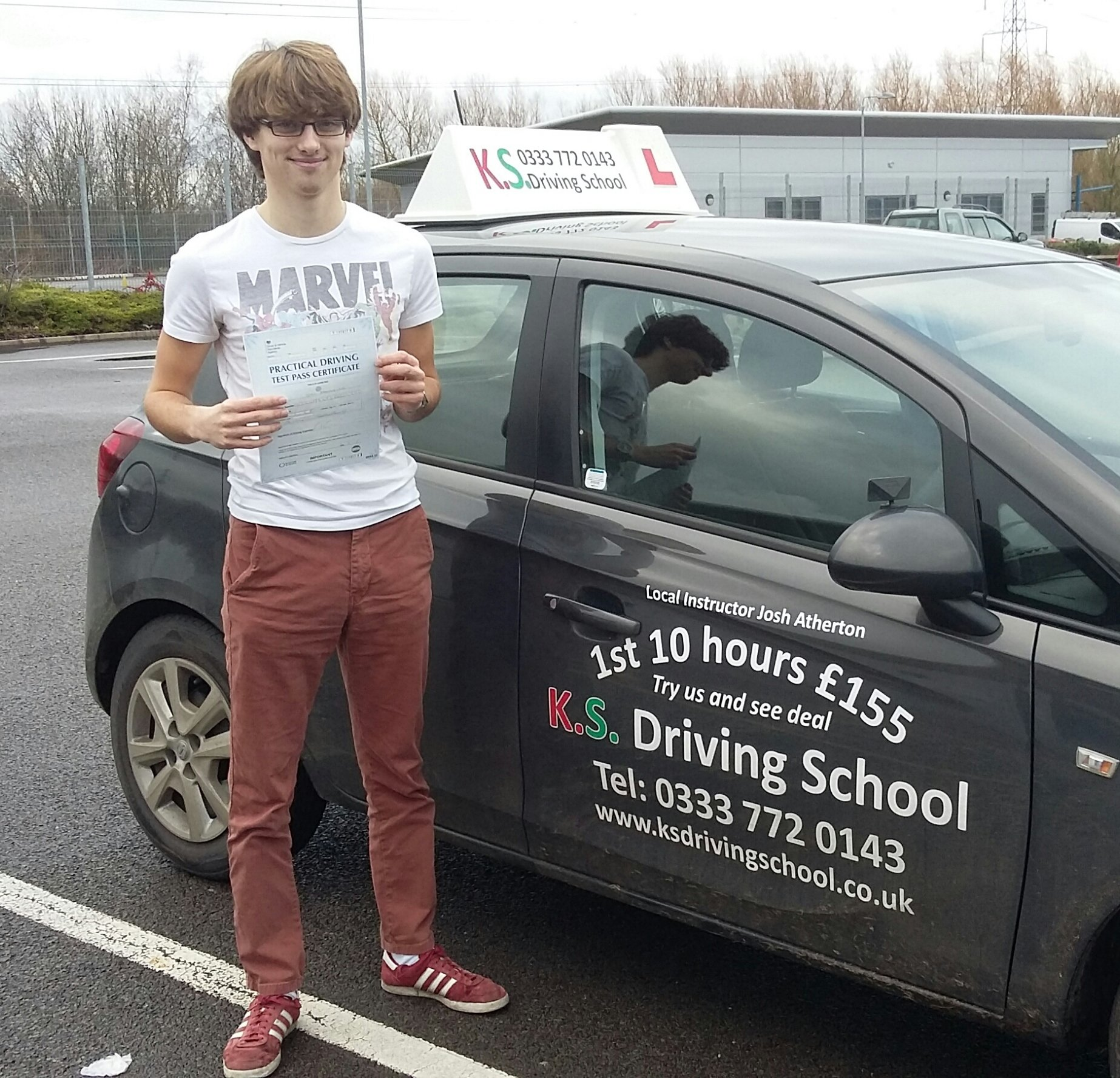 Jay Donnely Passed his Practical Driving Test in Shrewsbury