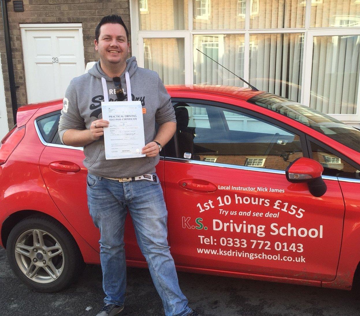 Paul Davies Passed his Practical Driving Test in Shrewsbury