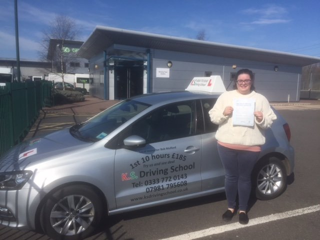 Driving Test Pass for Amy Larkin in Shrewsbury 26TH March