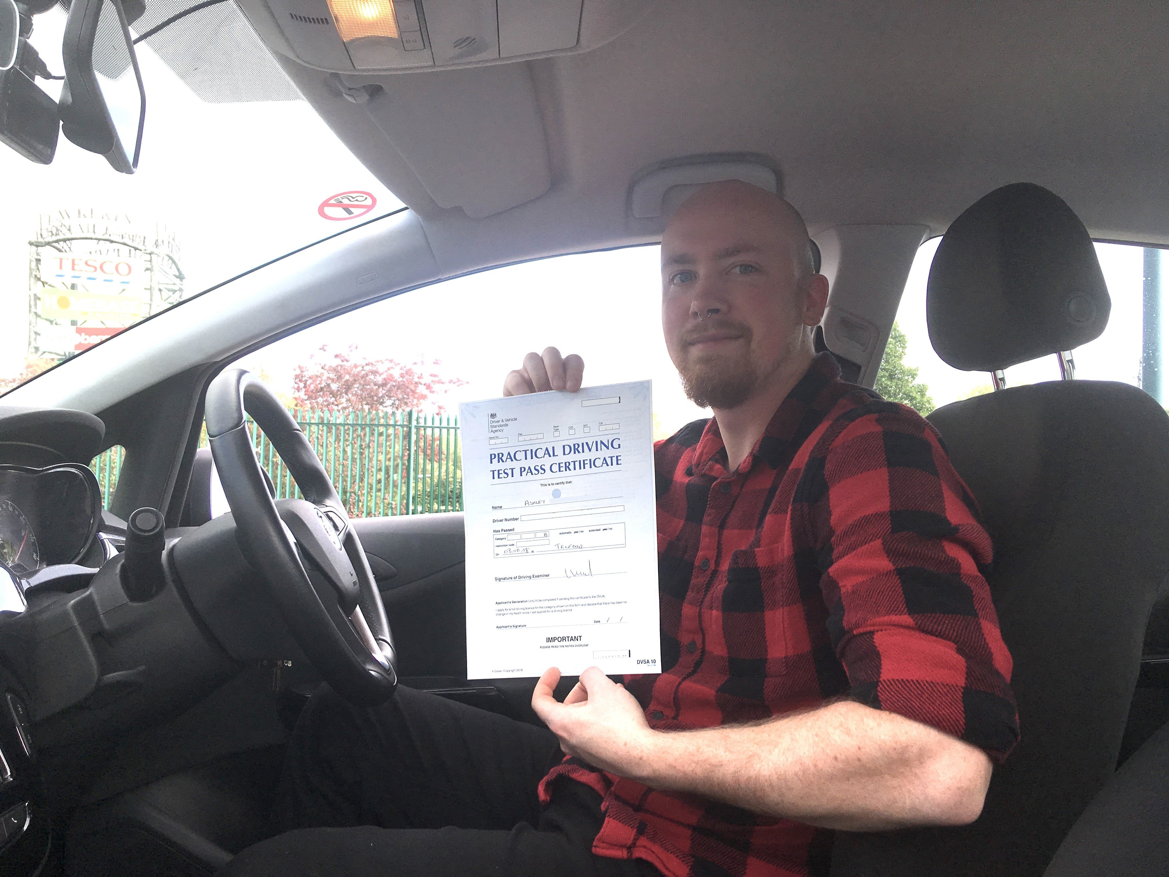 Driving Test Pass in Telford