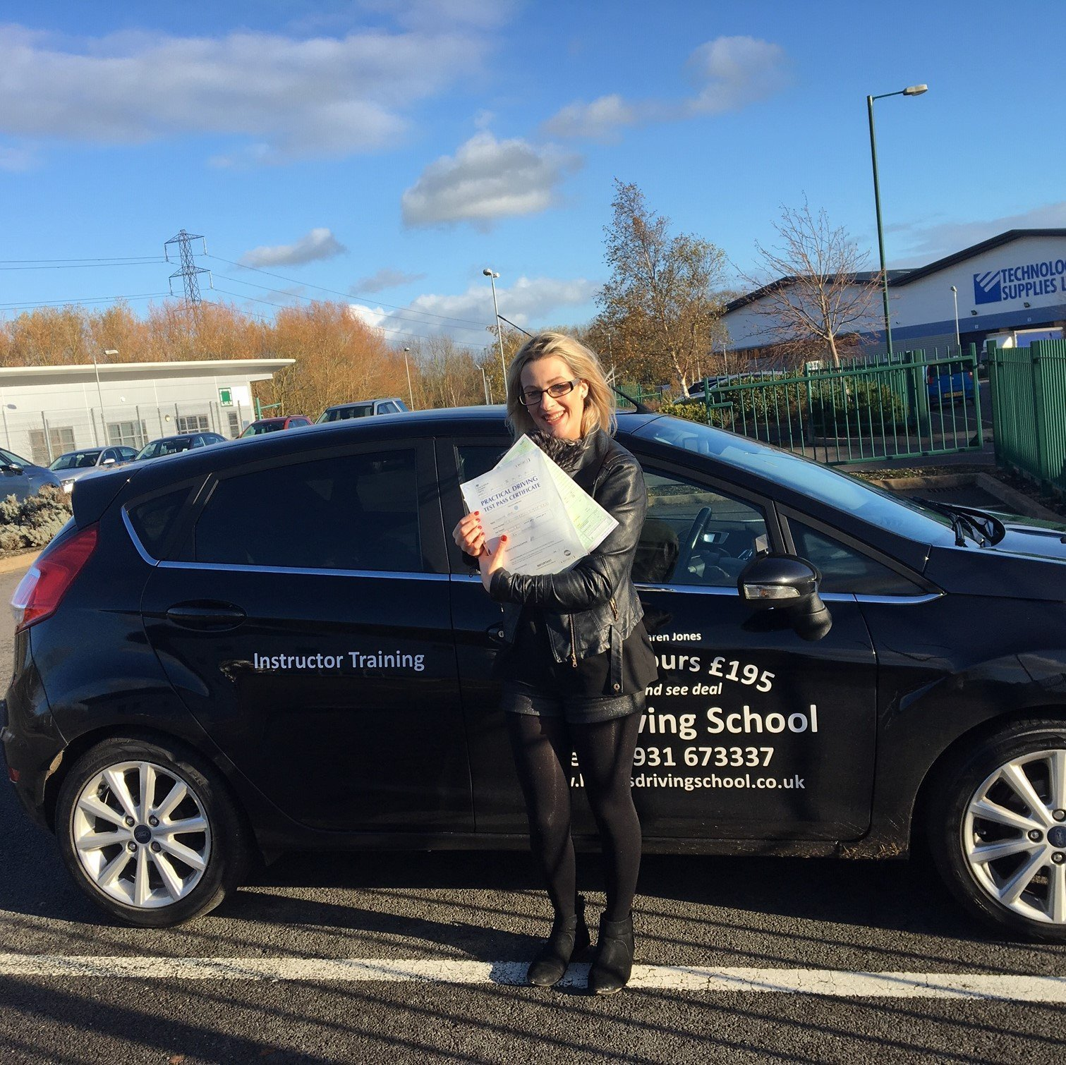 Driving Test Pass for Sam White