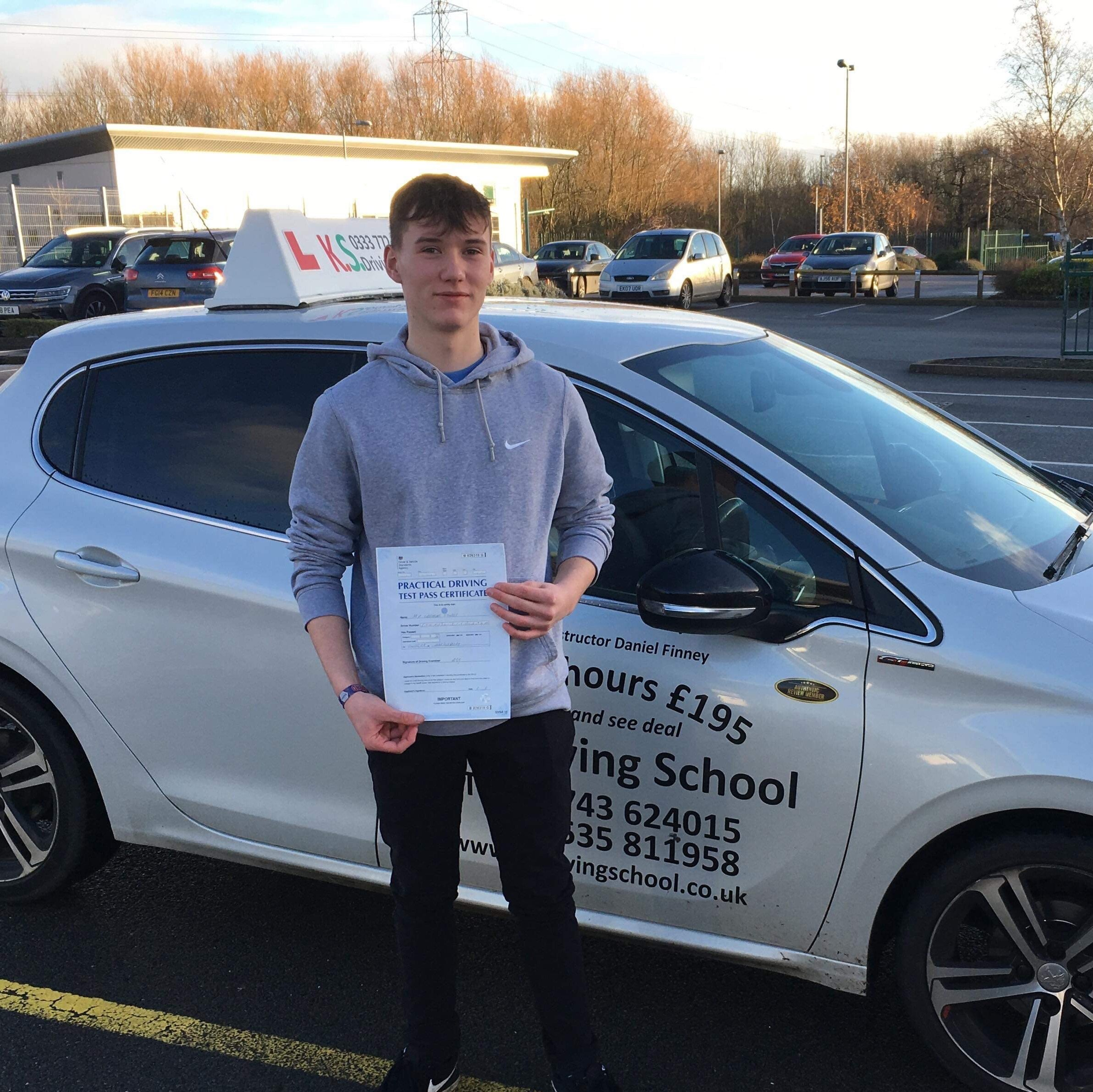 Driving Test Pass in Shrewsbury 20th December