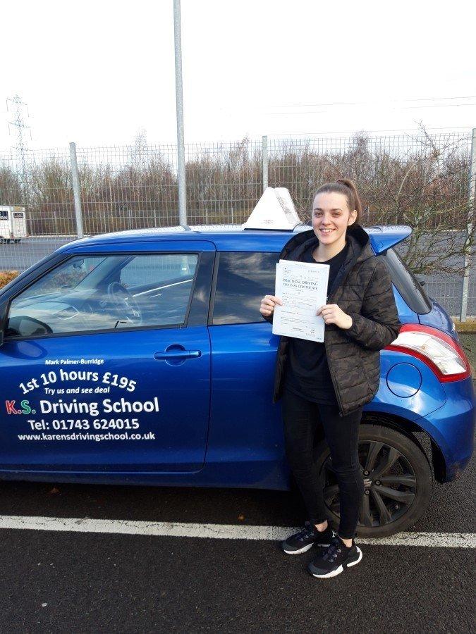 Driving Test Pass in Shrewsbury 7th December