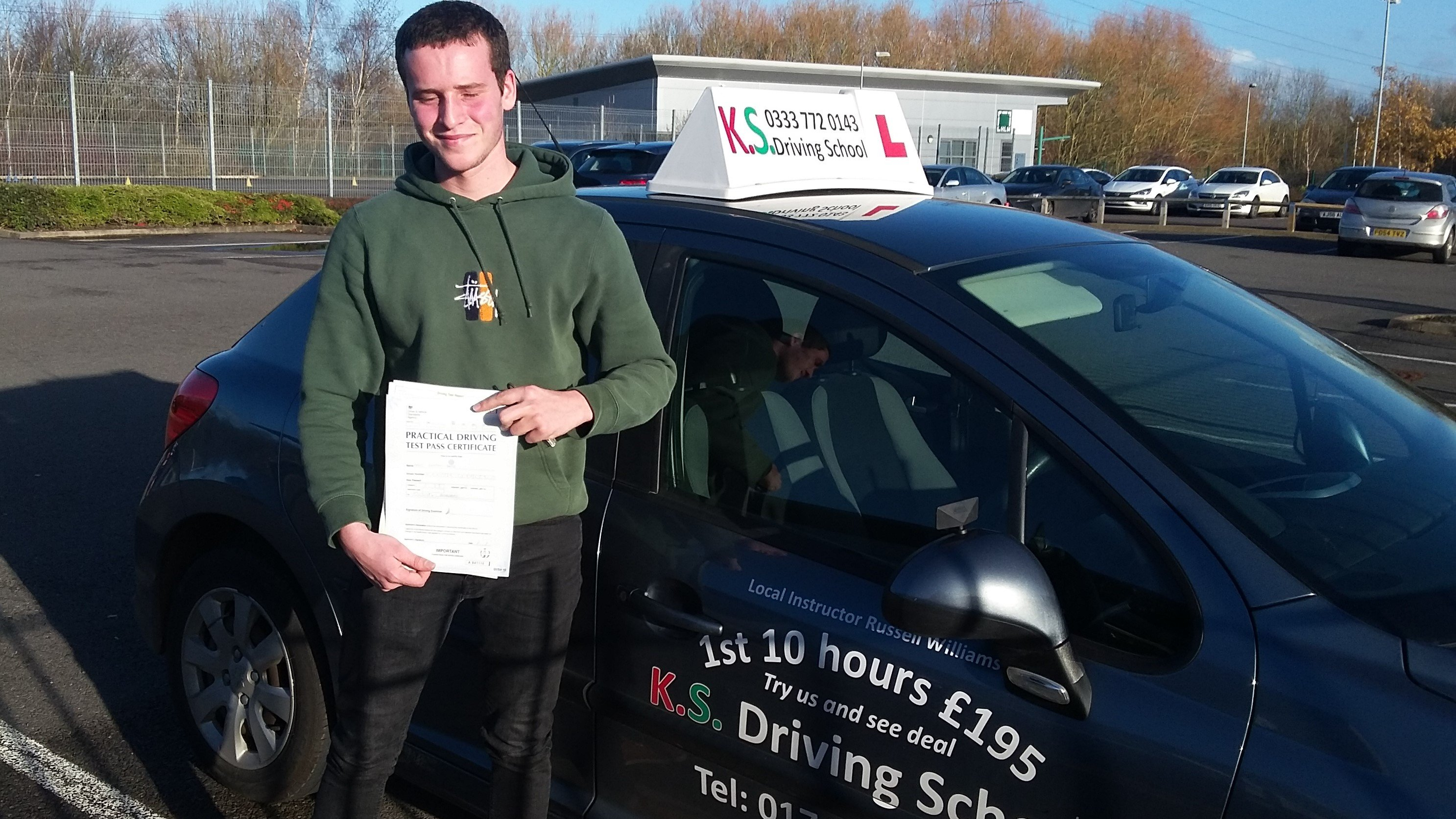 Well, one Louis Wootton Davies on passing your driving test