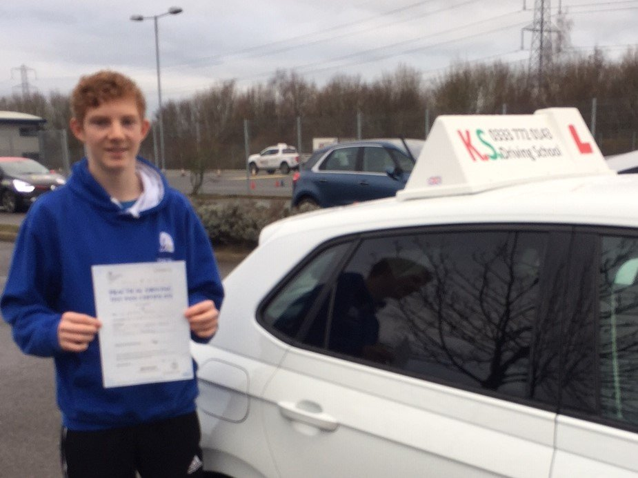 Congratulations to Alister Perkins who past his driving test 1st time