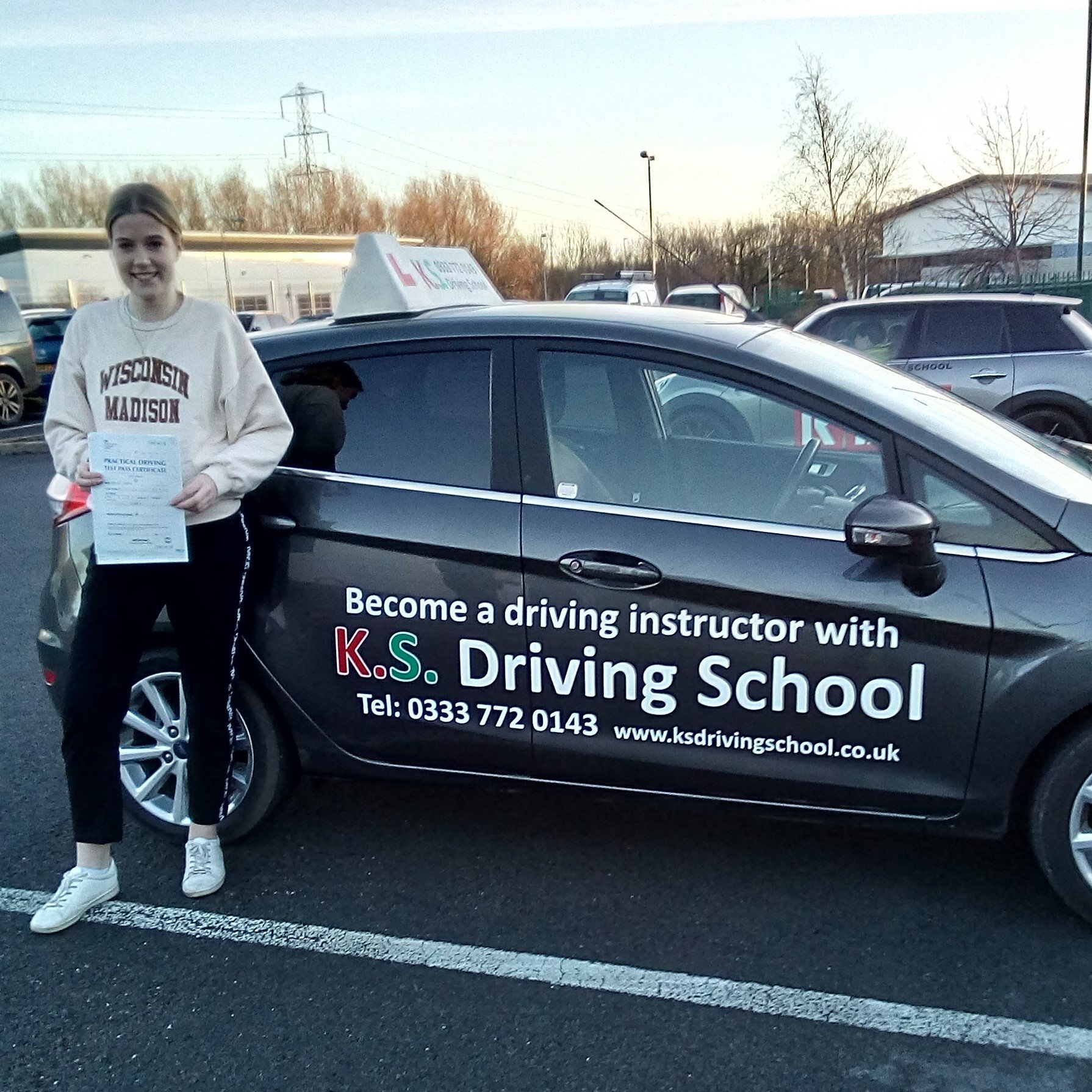 Congratulations on Charlotte Georgie Roberts on passing her test today 9th Jan