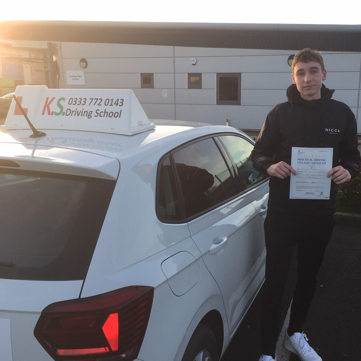 Congratulations to George Harrison who passed his test on 9th January