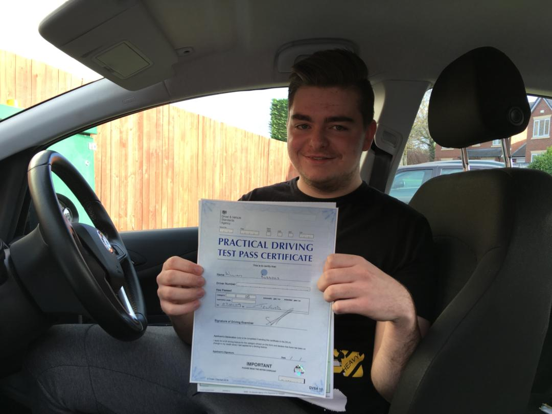 Driving Lessons Telford New Year Pass for Will
