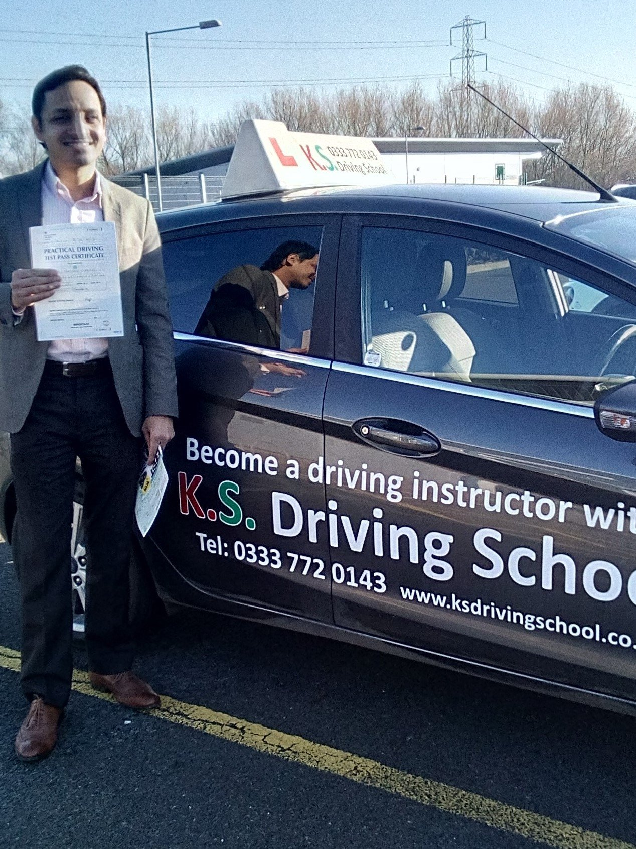 Dr Oberoi on passing his test today 1st time in Shrewsbury