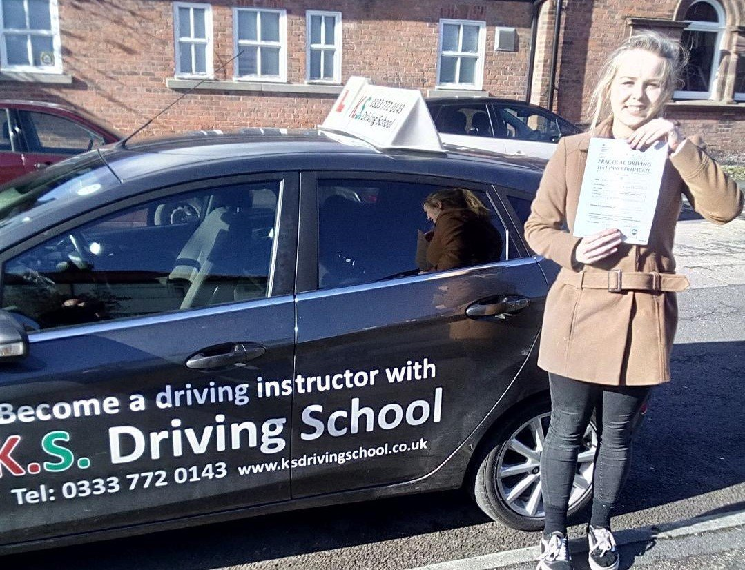 Caitlin Pennington passing 1 st time in whitchurch
