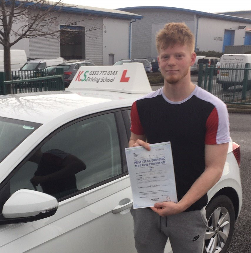 Congratulations to Josh Lewis who Passed his Driving Test in Shrewsbury on 6th March 1st Time.