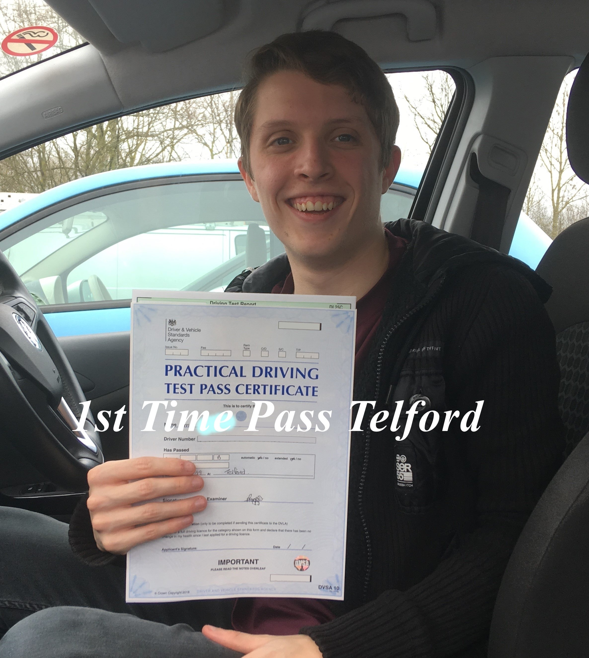 Congratulations Darren Ward on Passing his Driving Test In Telford on 21st March