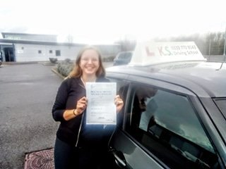 Driving Test Pass 1st Time for Ellice Powell