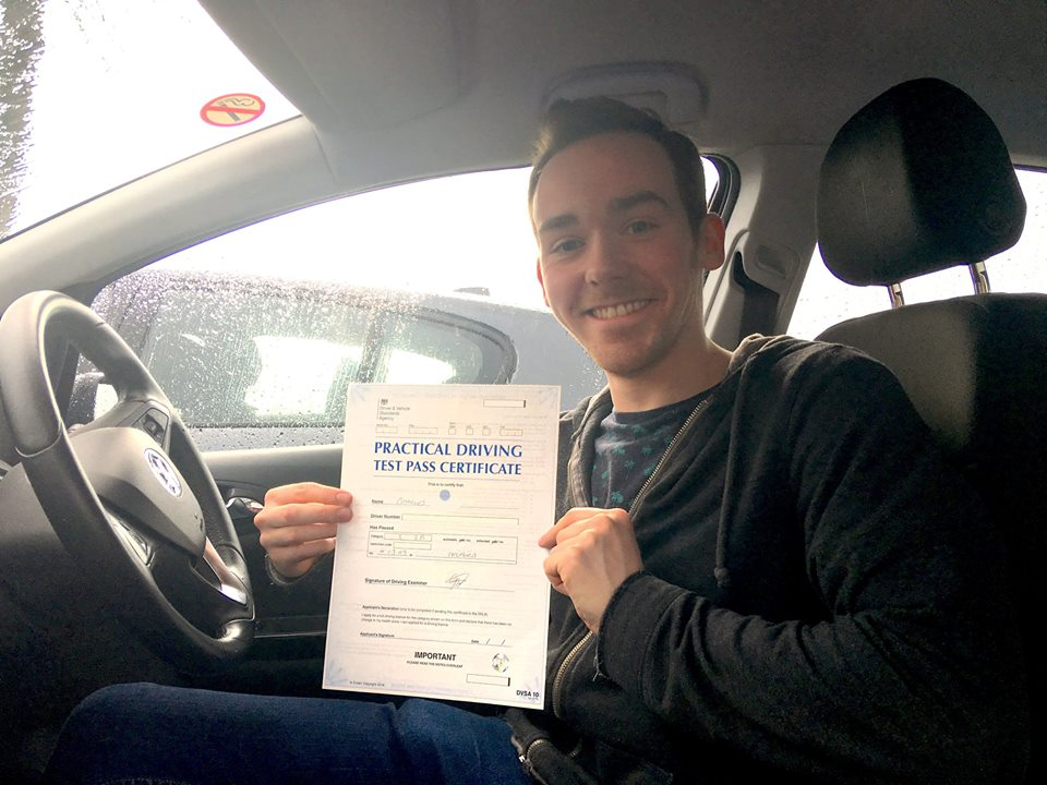 Driving Test Pass for Charlie Telford on the 4th March