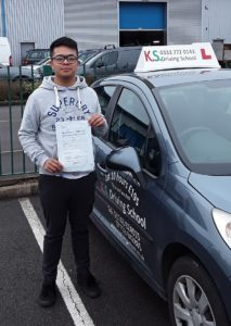 Ralph Allomoner Passed his Driving Test 8th March Shrewsbury