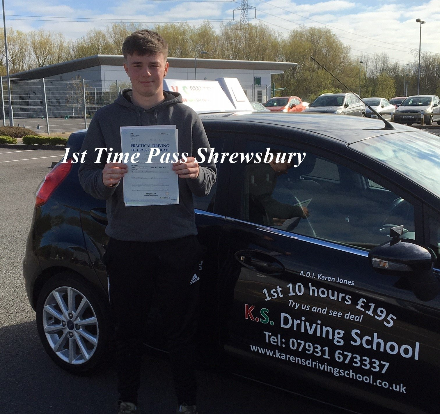 1st Time Driving Test Pass in Shrewsbury 11th April