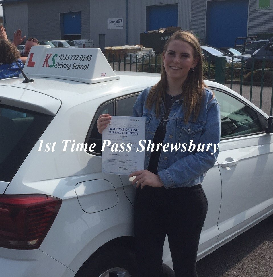Driving Test Pass 17th April in Shrewsbury for Beth Jones