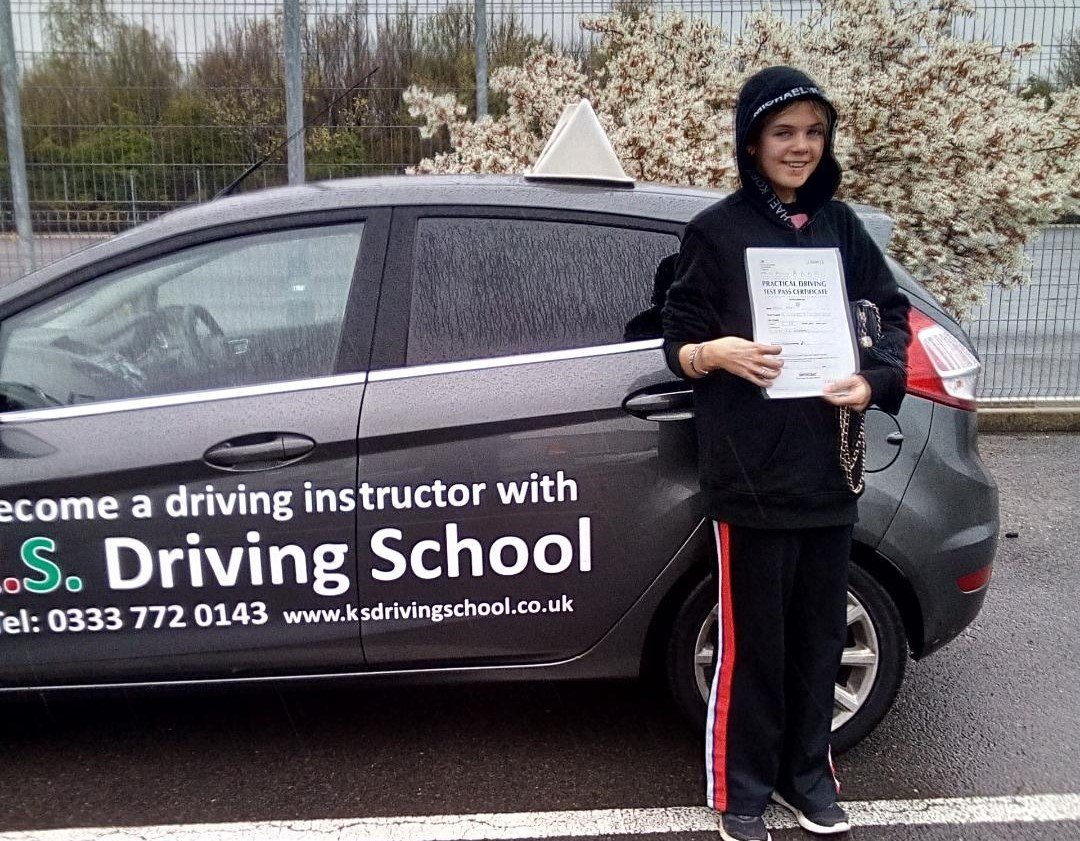 Congratulations to Octavia Riggall.Passing her Driving