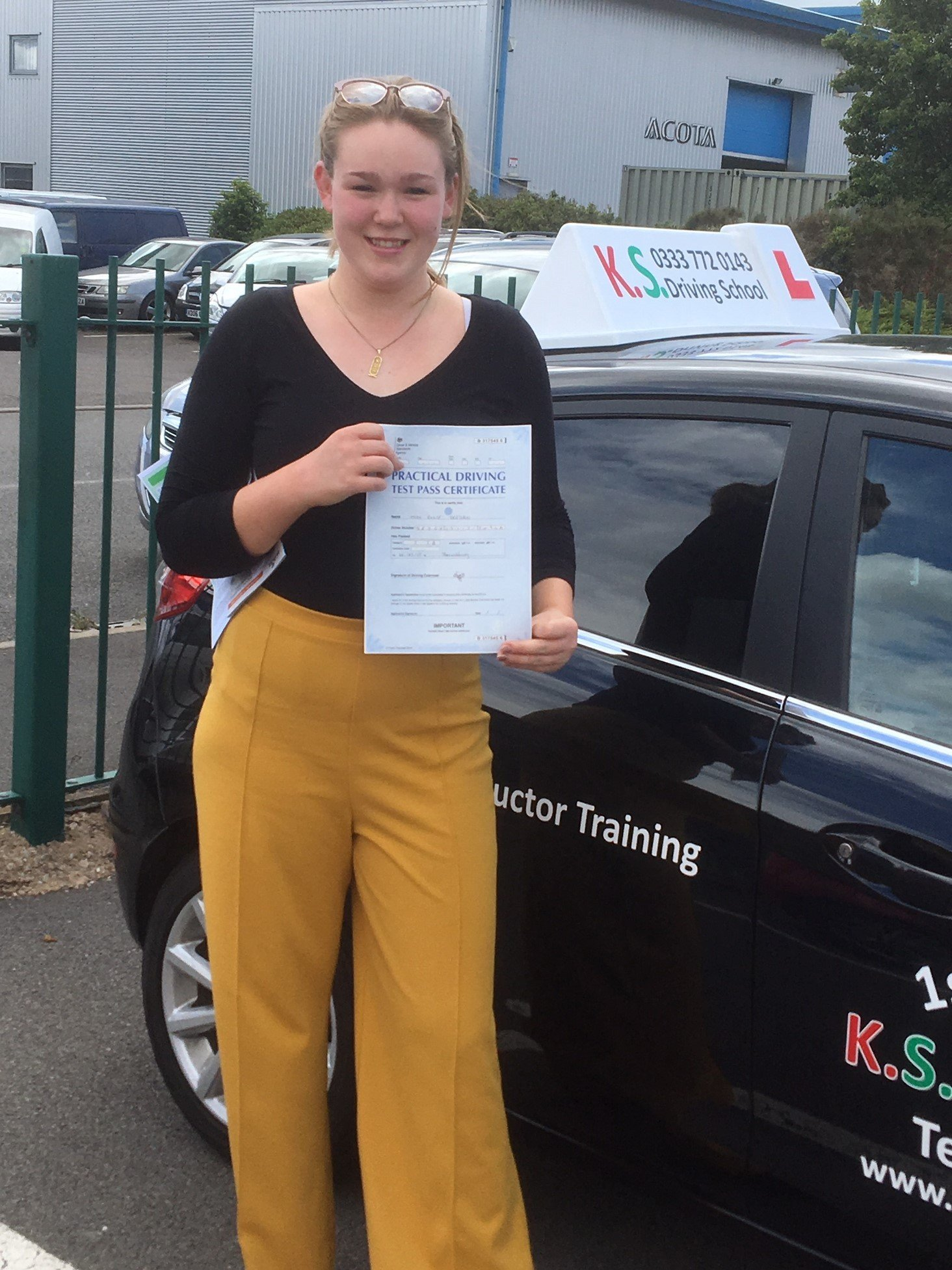 Driving Test Pass in Shrewsbury for Elle Deegan