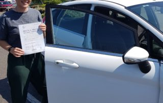 Well Done Emily Turner passing your driving test