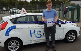 Another Driving Test Pass 1st Time in Shrewsbury