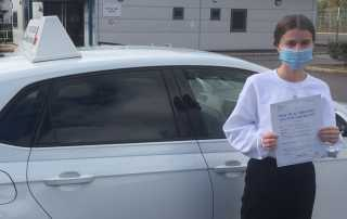 Congratulations to Tessa Lincoln who passed her driving test on Tuesday 6th October