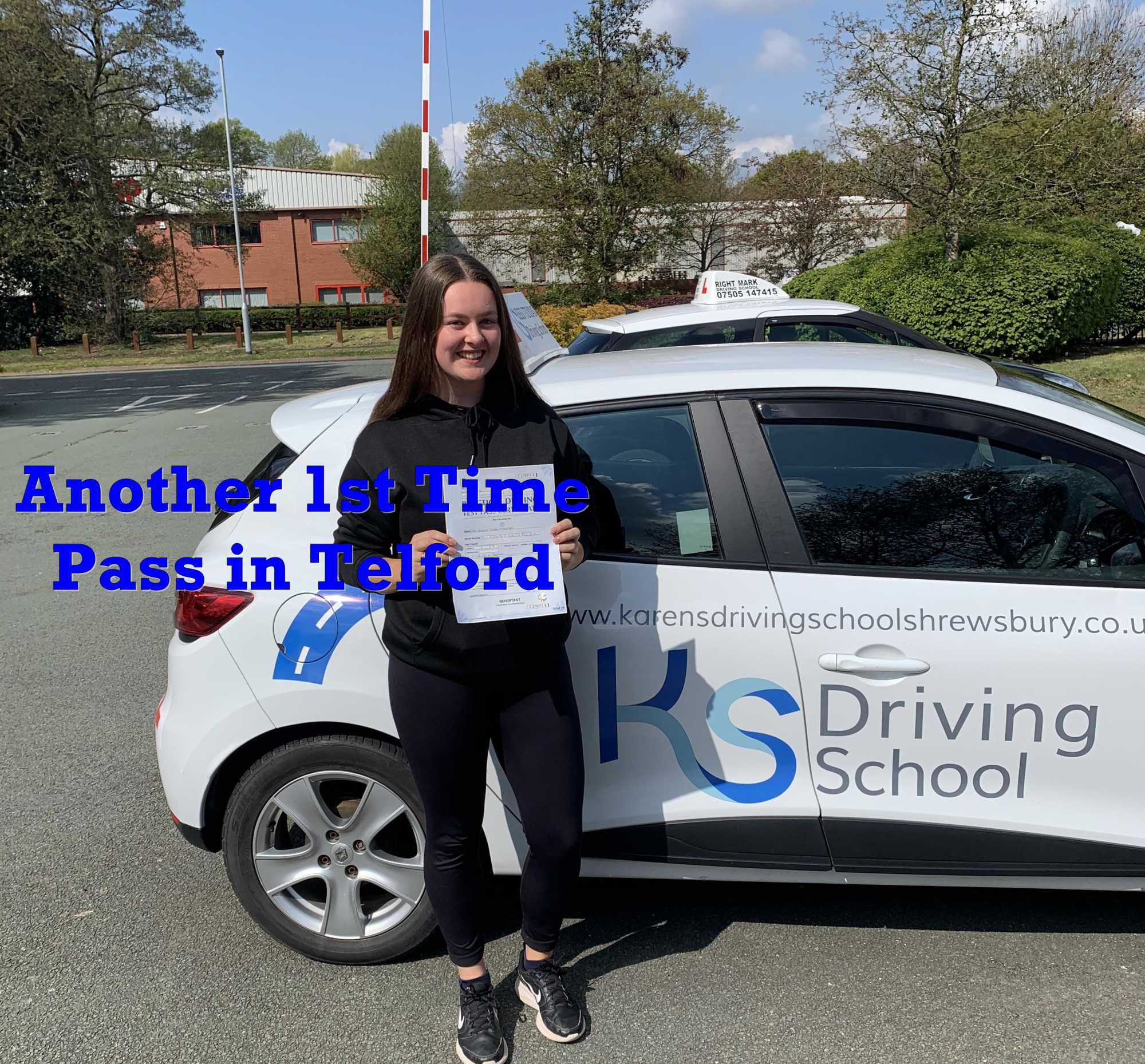 Another 1st time Driving Test Pass in Telford
