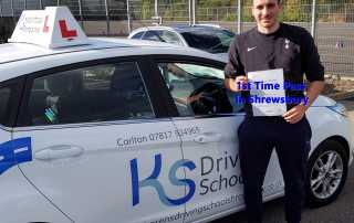 Congratulations to Dino Zapties who passed his driving test FIRST TIME in Shrewsbury