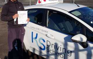 Congratulations!! to Zak Wilson who passed his test FIRST TIME